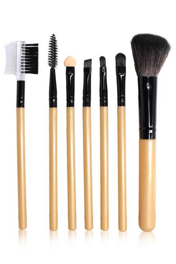 7'li Deri Çantalı Fırça Seti