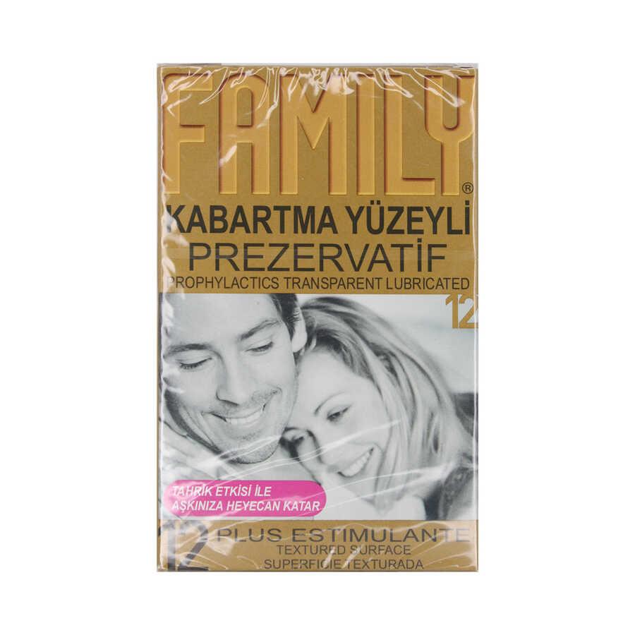 Family Kabartma Yüzeyli Prezervatif 12 Adet