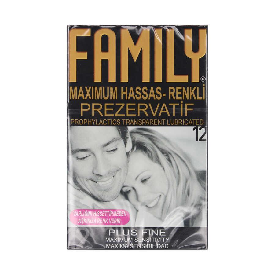Family Maximum Hassas Renkli Prezervatif 12 Adet