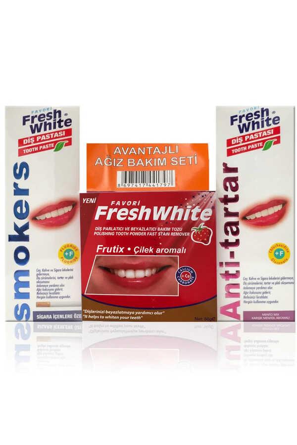 Fresh White Ağız Ve Diş Bakım Seti Çilekli