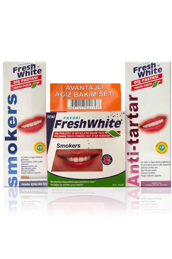 Fresh White Ağız Ve Diş Bakım Seti Naneli