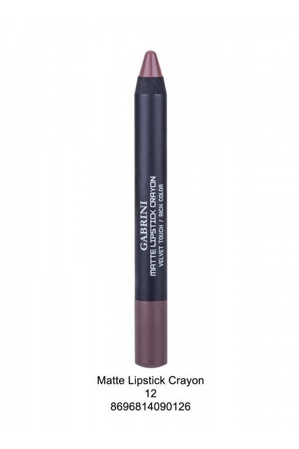 Gabrini Matte Lipstick Crayon 01-12