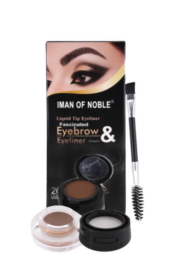 Iman Of Noble Kaş Farı Ve Gel Eyeliner Pomadı Kahverengi 2 - 4 - 6