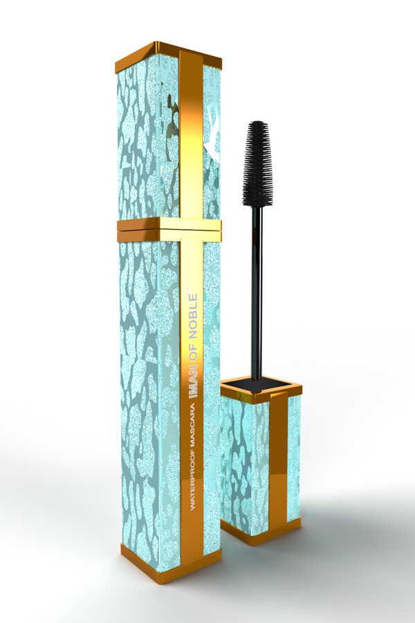 Iman Of Noble Suya Dayanıklı Bronz Ve Su Yeşili Kare Maskara