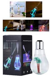 Led Işıklı Su Hazneli Buhar Makinası Hava Nemlendirici 400 ml - Thumbnail