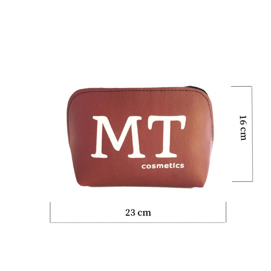 MT Deri Makyaj Çantası Bordo Renk