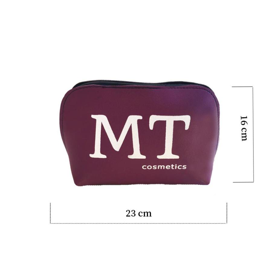 MT Deri Makyaj Çantası Mor Renk