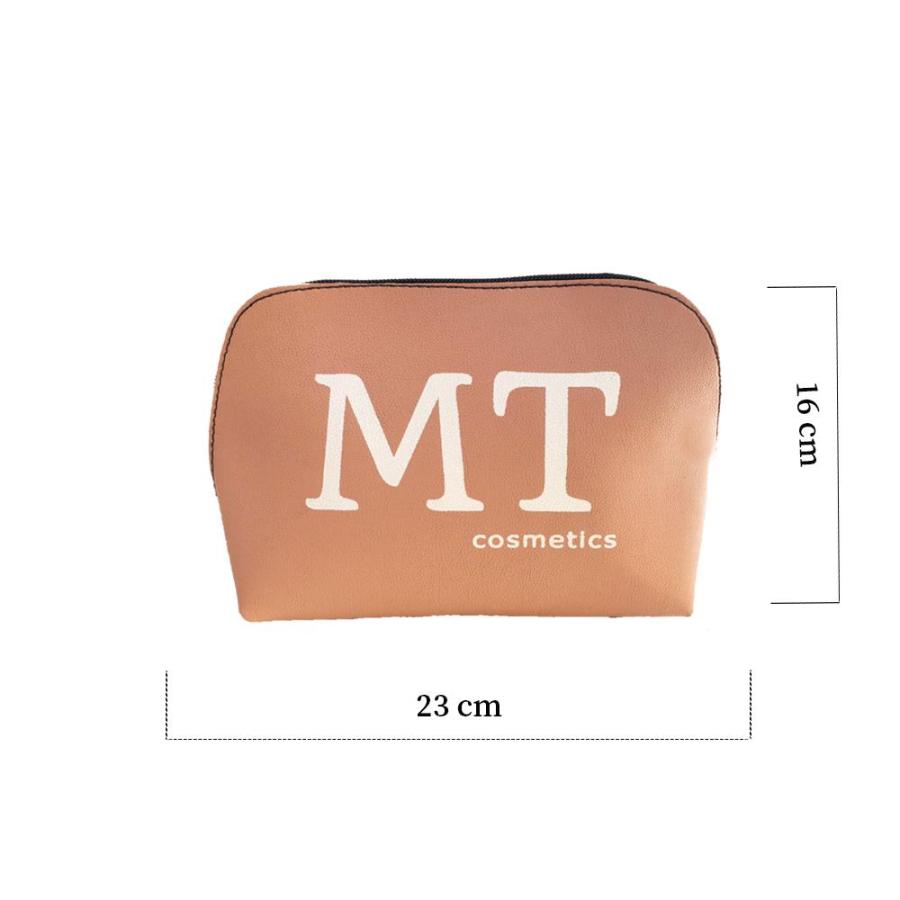 MT Deri Makyaj Çantası Pudra Pembesi Renk