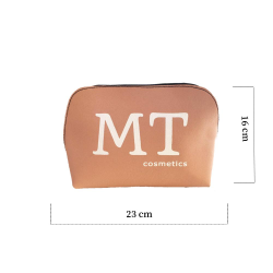 MT Deri Makyaj Çantası Pudra Pembesi Renk - Thumbnail