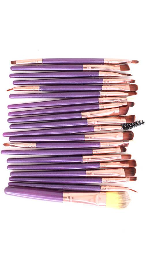 Müjgan 20 li Makyaj Fırça Seti Mor Renk