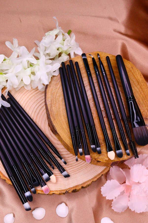 Müjgan 20 li Makyaj Fırça Seti Siyah Renk