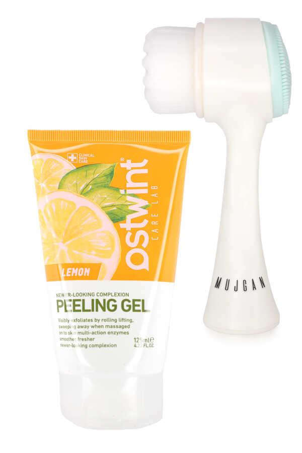 Ostwint Limon Özlü Peeling Jel Ve Yüz Temizleme Fırçası