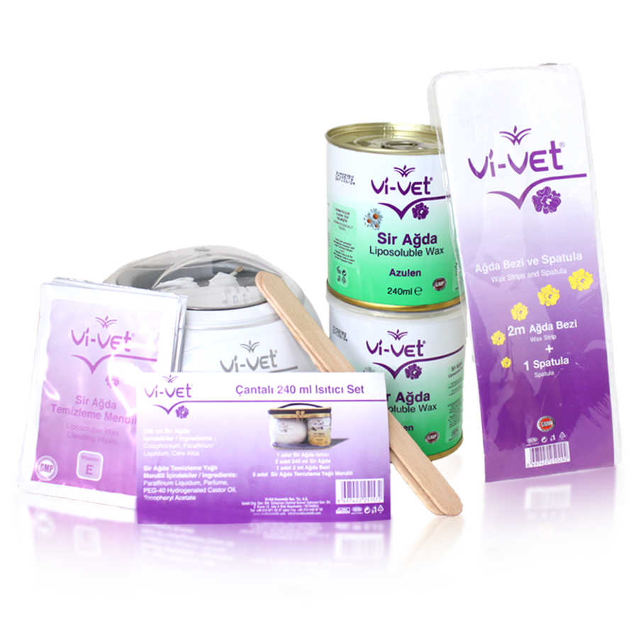Vİ-VET Sir Ağda Teneke Isıtcı Set 240mL